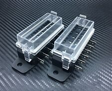 2PC 6 Way DC32V-12v Circuit Blade Fuse Box Block Fuse Holder MINI ATC ATO Hmt6x2