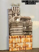 """O Scale Scratch Built """"The Oil Refinery"""" Tank Industrial Front/Flat MTH Lionel"""