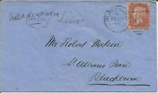 GB  Queen Victoria  Penny Red  Stanley Whalley Solicitor  Blackburn  1877  Cover