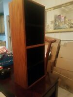 Case Logic CD Wood Teak Color Storage Cabinet Used Mint Condition