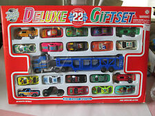 "Yatming Road Racers ""Deluxe 22 Gift Set"" 11"" Transporter Carrier Truck #91020"