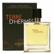 TERRE D' HERMES  2.5 OZ PARFUME  SPRAY FOR MEN NEW BY HERMES