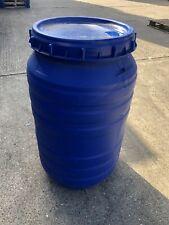 30 L Litre Open Top Plastic Storage Barrel Drum Keg With Lid