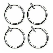 Retractable Earrings No Need Piercing Classic Hip-hop Hoop Earrings US STOCK