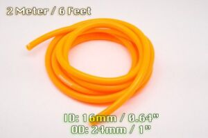 2 METRE ORANGE SILICONE VACUUM HOSE AIR ENGINE BAY DRESS UP 16MM FIT FORD