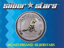1 OZ 999 Silber Lunar I 2006  Jahr des Hundes  Dog  gilded