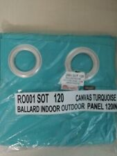 "5 New Ballard Indoor Outdoor Canas Panels 50"" x 120 canvas turquoise sunbrella"