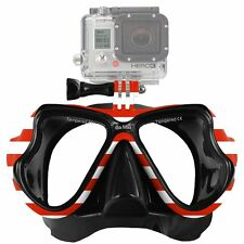 New GoMax GoPro ® Scuba Diving Mask compatible for All GoPro ® Hero USA Flag