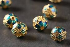 2pcs -10mmX10mm Cloisonne spacer beads