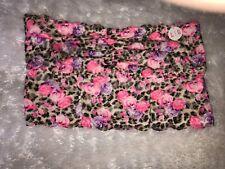 Victoria Secret Bandeua Bra L Rose Leopard Print NWT
