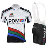 1988 PDM Ultima Chrome Cassettes Retro Cycling Jersey Bib Short Short Kit