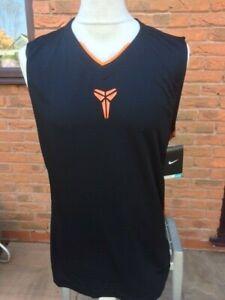 Nike Kobe Dri-Fit Sleeveless Shirt Tank Top Vest Black Orange Grey - XXL-T