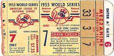 1955 WORLD SERIES  MLB Baseball Ticket  Huge Art Print  Brooklyn Dodgers Yankees