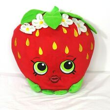 Shopkins Strawberry Stuffed Plush Toy Pillow Red Green 15 inch Ages 4 And Up