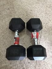 New 25lb Weider Pair Of Rubber Coated Hex Dumbells Total 50 Pounds ✅Ship Today