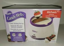 WILTON CANDY MELTING POT ELECTRIC DIPPING SET MICHAEL'S EXCLUSIVE PURPLE WHITE