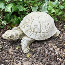 Tortoise Turtle Terrapin Reptile Stone Garden Lawn Statue Ornament Sculpture Art