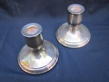 F.B. Rodgers Silver Co Paul Revere Silver Candlestick Holders Collectible 1 Pair