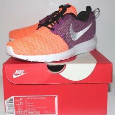 Nike Air Roshe Run Yarn Grey Gray Purple Orange Sneakers Men's Size 9.5 New