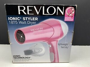 Revlon IONIC HAIR STYLER DRYER 1875 Watt Pink New Open Box