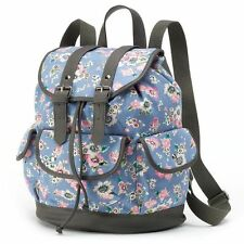 Candie's Cross Shop Slate Blue Floral Backpack Bookbag Adult/Youth NWT $60