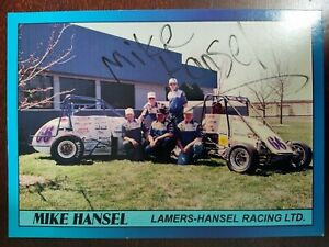 Mike Hansel Autographed Post Card. Lamers-Hansel Racing LTD. Speed Cards.