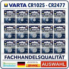 Varta High-Tech Lithium Knopfzellen CR1025 - CR2477 Blister l Bulk Auswahl