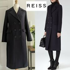 REISS MIDNIGHT NAVY MARZIA MILITARY WOOL LONG ASO COAT NEW WITH TAGS UK 8/10/12