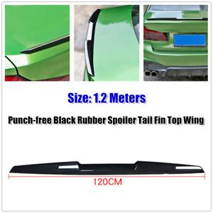 1.2m Car Trunk Spoiler Lip Kit Rubber Tail Fin Strip Bar Top Wing Trim Universal