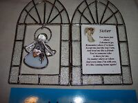 "Angels, Stained Glass, Charmer Frames+ Charmer Angel,""Sister "" Longer Verse"