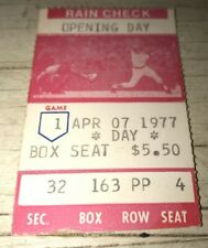 ⚾️4/7/1977 Indians Red Sox Fenway Opening Day Ticket Stub 🎫Jim Norris MLB Debut
