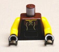 x1 NEW Lego Castle Minifig Body Torso Blacksmith Peasant Apron & Front Lace Up