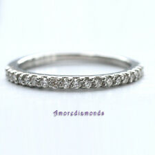 1/4 ct G Vs2 natural round diamond women wedding ring solid platinum size 6
