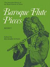 Barroco Flauta Piezas Juego Leclair Telemann clásica Flauta música de piano Libro 5