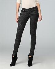 Vintage Havana Python Print Jeans Black/Gray Womens sz 26 Waist Skinny Stretch