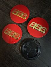 BBS Red / Gold 70mm Rotes / Gold Röd / Guld Oro / Rojo RS RF RM RZ Dekel Cap