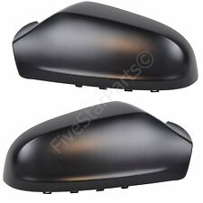 PAIR L+R WING DOOR BLACK MIRROR COVER FOR VAUXHALL ASTRA H - DRIVER & PASSENGER