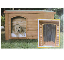 Outback Plastic Doorway Cover for Small Dog House Brown Small