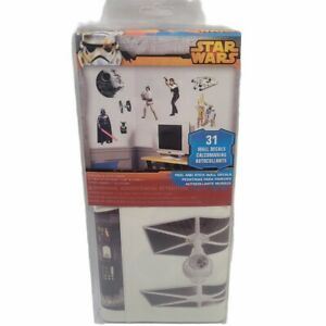 Star Wars Classic 31 Peel and Stick Wall Decals Room Decoration Luke Han Vader