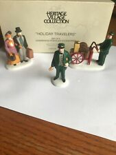 """Department 56 Heritage Village """"Holiday Travelers"""" #5571-9 Mint"""