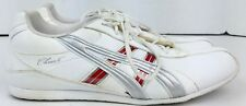 Asics Women's White and Red Cheer 6 Cheerleading Tennis Shoes Size 10