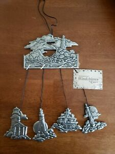Statesmetal Wind Chimes By Carson  Lighthouse 1993 New