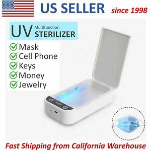 UVC Sterilizer Portable UV Sanitizer Box Disinfection Case Cleaner Cell Phone