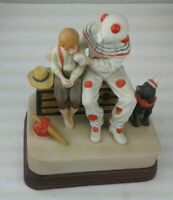 "Norman Rockwell ""The Runaway"" Music Box Figurine - ""Send in the Clowns"" 1985 EUC"