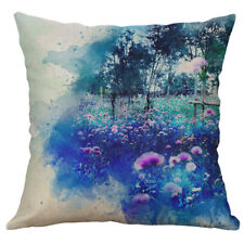 "18"" Whale feather Animal Print Cotton Linen pillow case Home Decor Cushion Cover"