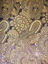 M&S Per Una Vintage insp BAROQUE Brocade Dark GOLD PURPLE paisley SKIRT 14 UK