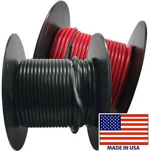 (2) 10 Gauge Wire 100 FT Red & Black Primary AWG Automotive Stranded Copper USA