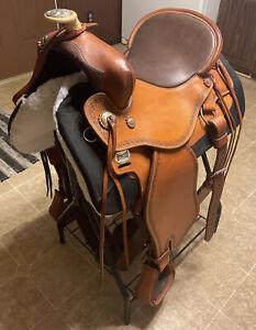 OrthoFlex The Baron Western Saddle Leather w/ Orig Girth Rear Cinch $2600 MRSP