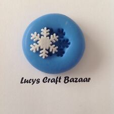 Silicone Mould Mini Snowflake Christmas Xmas Winter Cake Pop Topper Decorating