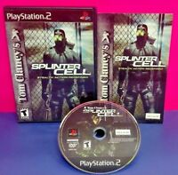 Splinter Cell Tom Clancys PS2 Playstation 2 COMPLETE Game 1 Owner Near Mint Disc